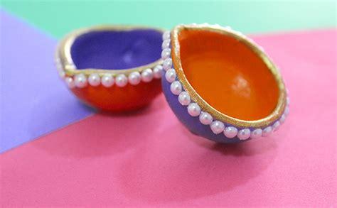 Diwali Home Decoration Idea by Diy Diwali Diya Decoration Ideas In 10 Mins The Craftables