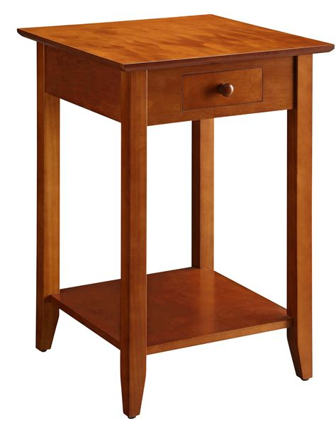 american heritage end table with drawer and shelf 7104077ch