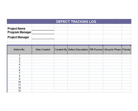 document tracker excel template sle issue tracking template 6 free documents in pdf