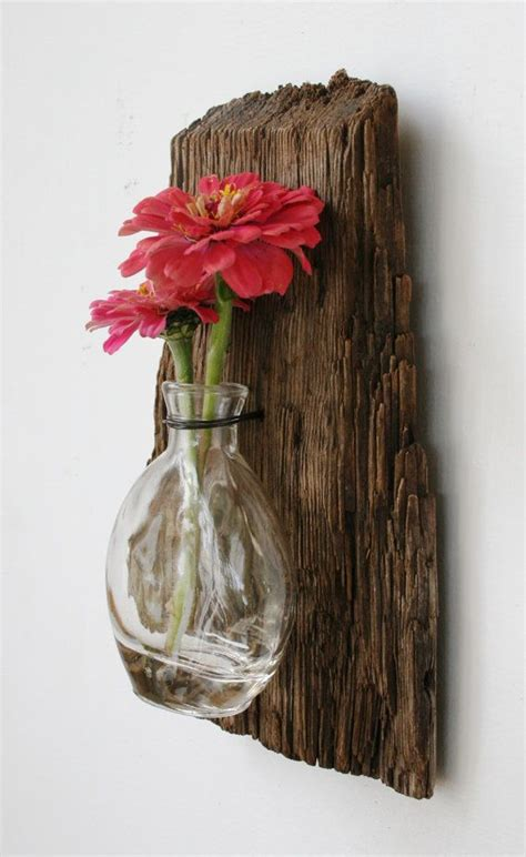 Diy Wood Vase by Driftwood Reclaimed Wood Vase Rustic Home Decor