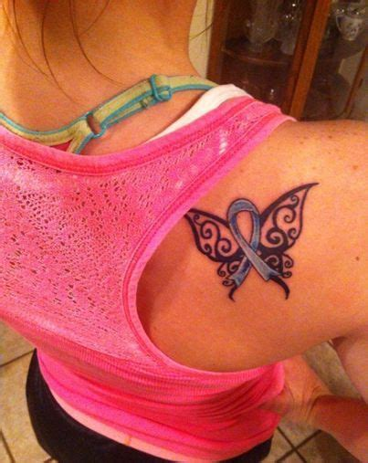tribal cancer ribbon tattoos for my colon cancer awareness ribbon