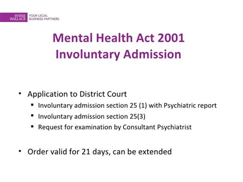 section 5 2 mental health act sinead kearney children and mental health pres 13 sep 2011