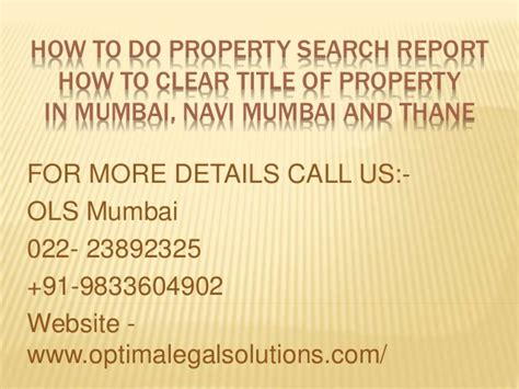 How To Do An Asset Search How To Do Property Search Report Title Search Report