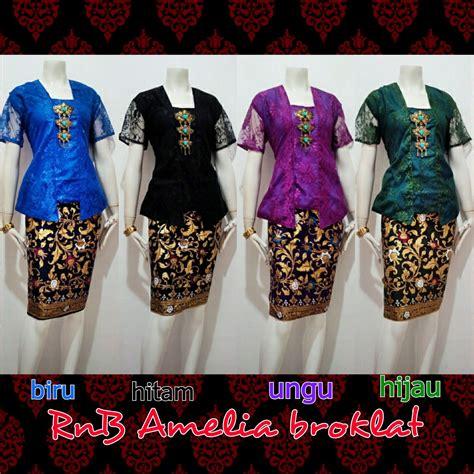 Baju Blouse Blus Katun Nov harga setelan rok blus encim camelia kebaya batik
