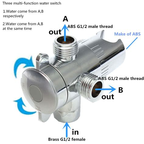 How To Remove Shower Diverter Valve by Other Bathroom 1 2 Inch Three Way Shower Diverter