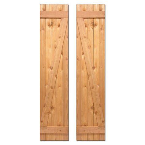 cedar z shutters design craft millworks 15 in x 80 in board n batten