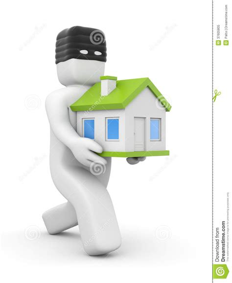 stolen house thief stolen house royalty free stock photo image 37605805