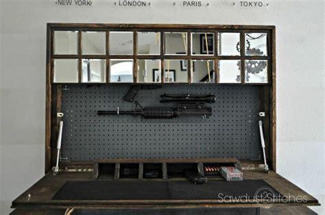 diy hidden gun cabinet plans hidden gun cabinet mirror woodworking projects plans