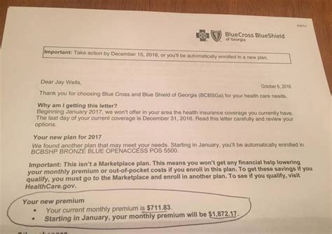Letter Premium Obamacare Disaster Gets Astronomical Increase In
