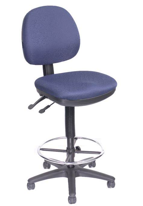Navy Blue Chair by Office Direct Qld West Lookout Fabric Navy Blue Chair