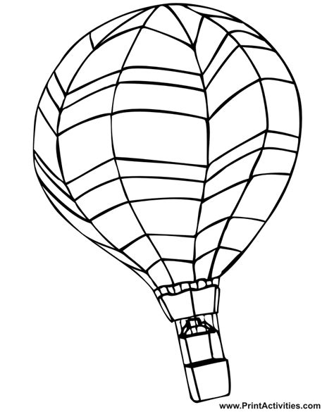 printable coloring pages air balloons free air balloon coloring pages