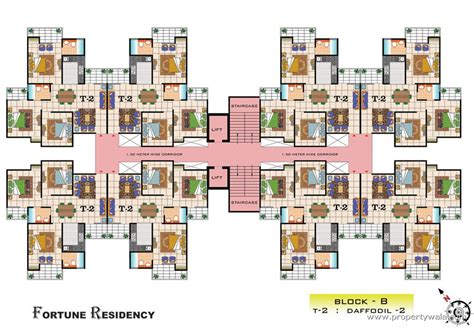 cluster house floor plan vasu fortune residency raj nagar ghaziabad apartment flat project