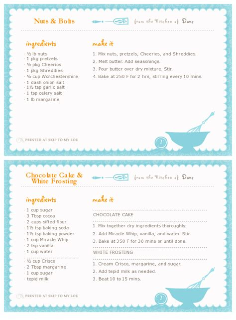 real simple recipe card template friday fave recipe card maker real neat