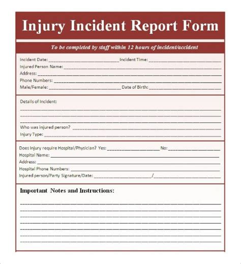 incident report forms templates sle incident report form template templatezet