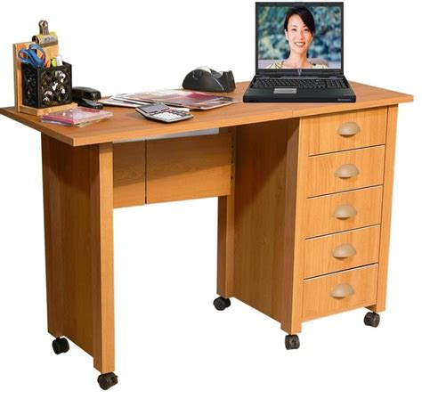 folding table with drawers folding mobile desk craft table w 5 drawers