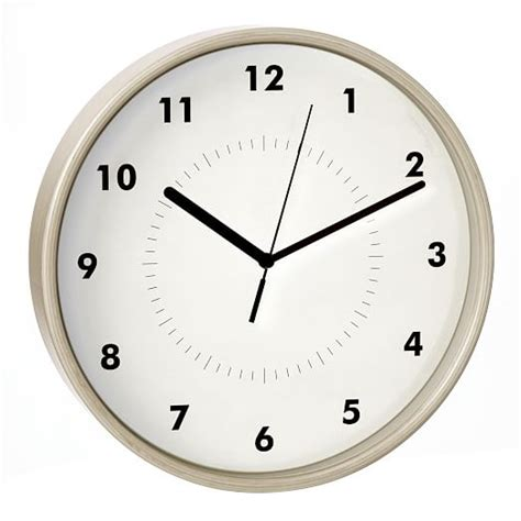 Simple Wall Clock | simple wood wall clock west elm