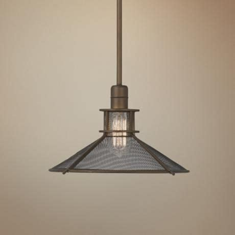 Glasgow Industrial 14 Quot Wide Bronze Pendant Light We Ceiling Lights Glasgow