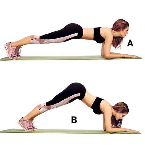 these are the ab exercises menounos swears by fitness health plank workout exercise