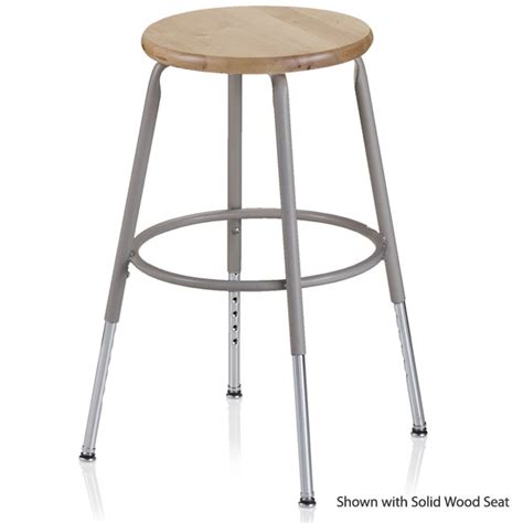 Science Lab Bar Stools by Ki 600 Series Adjustable Steel Stool 25 Quot 33 Quot 624a