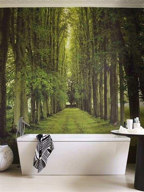 bad tapezieren behangpapier in de badkamer waarom niet woonmooi