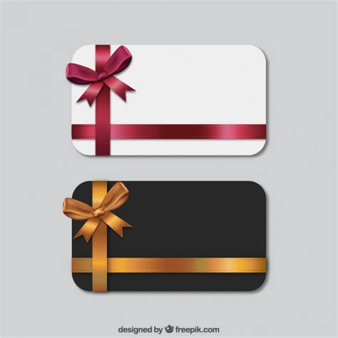 Download Gift Card - set of gift cards vector free download