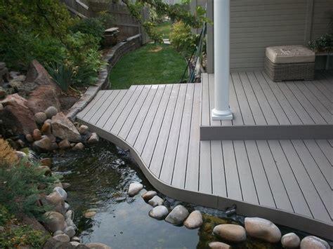 fish pond deck rebuild contemporary porch boise