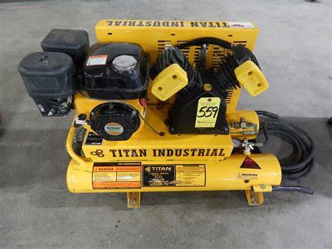 titan gas powered portable air compressor 5 5 h p 8 gal tank