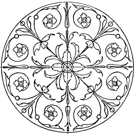 from pattern to nature in italian renaissance drawing renaissance circular panel clipart etc