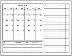 printable budget calendar 2016 calendar template 2017