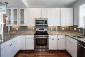 Grey Kitchen Cabinets With White Countertops - kitchen white cabinets grey countertop interior amp exterior doors