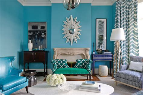 Aqua Colored Home Decor by Turquoise Living Room Eclectic Living Room Massucco