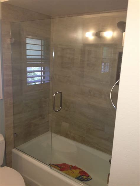 shower doors over bathtub over tub glass enclosure patriot glass and mirror san