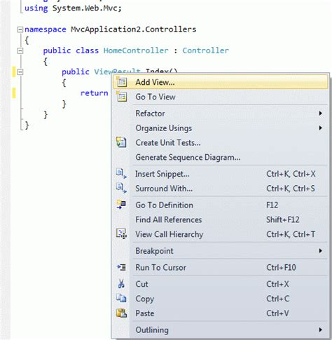 mvc layout null not working creating the first mvc 3 application using razor view