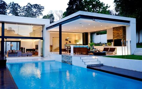 house of pool beautiful white house with swimming pool