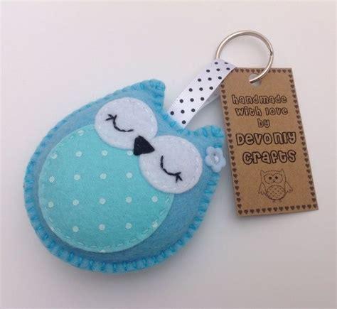 pattern keychain felt sleepy owl felt keyring bag charm turquoise 163 4 50