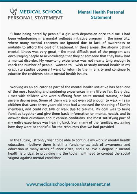 best mental health nursing personal statement