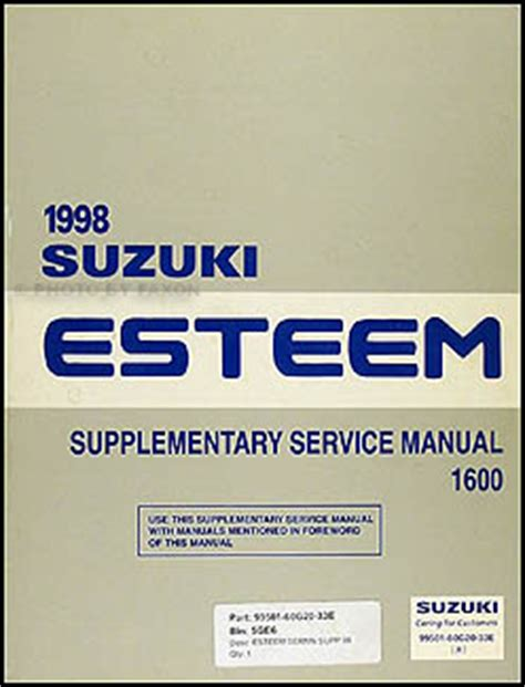 1996 suzuki esteem wiring diagram manual original 1998 2001 suzuki esteem wiring diagram manual original
