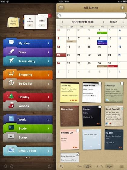 best free organization apps awesome note for the ipad why didn t someone tell us