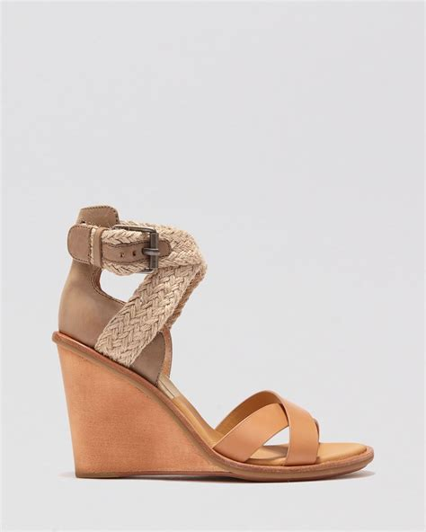 dolce vita open toe wedge sandals jarona in brown