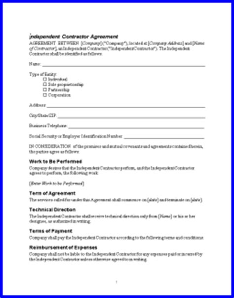 1099 contractor agreement template contractor agreement free printable documents