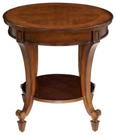 traditional demilune collection end table