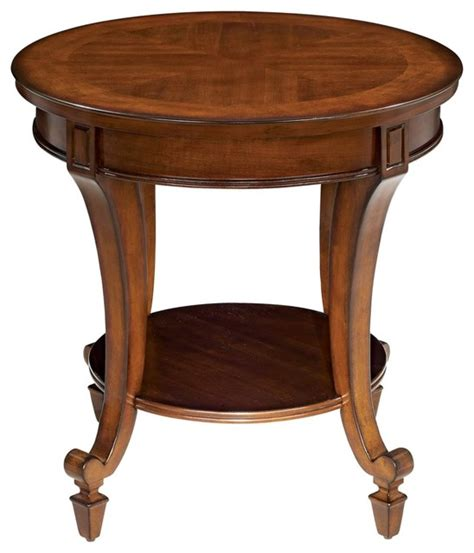 traditional accent tables traditional demilune collection round end table
