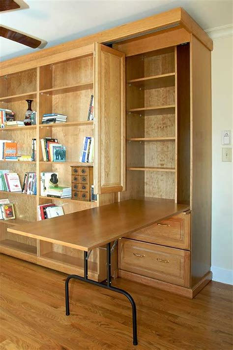 how to build a fold out table murphy bed with side cabinet featuring built in fold out