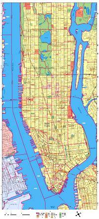 Manhattan Zip Code Map by Zip Codes Manhattan New York Map