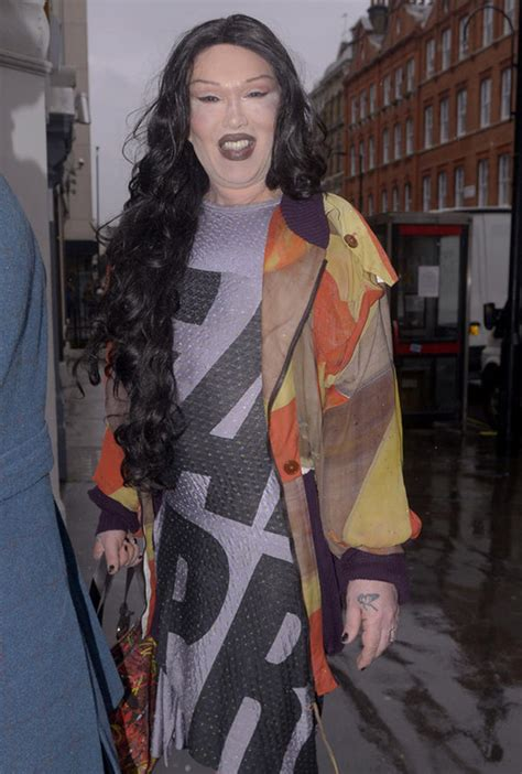 dress up like a dead celebrity pete burns unrecognisable on dressed down day out