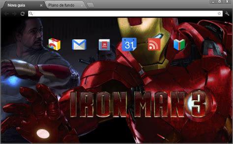 theme google chrome iron man 4web geek temas homem de ferro para google chrome