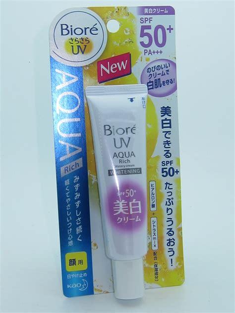 Biore Uv Spf50 Sunblock Ori Jepang 50ml biore uv aqua rich whitening watery spf 50 review