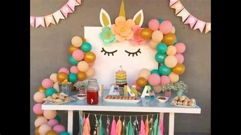 como decorar fiesta de unicornio decoracion de unicornio para fiesta youtube