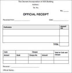 Official Receipt Template Word Sample Official Receipt Template Documet Pdf Download