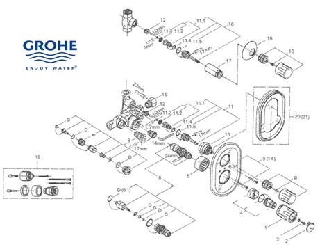 Grohe Showers Spare Parts by Grohe Grohtherm Auto 2000 34310 000 Shower Spares And